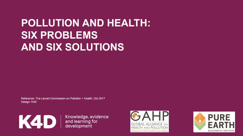 Pollution and health: six problems and six solutions